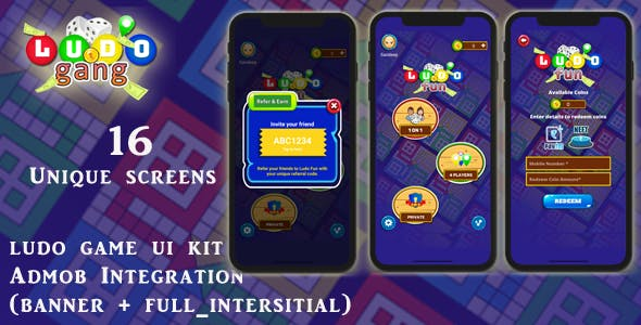 Ludo Fun Game UI KIT with android xml Source Code