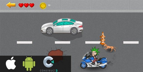 Motorcycle - HTML5 (Construct3/2) - CodeCanyon Item for Sale