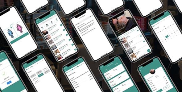 ionic 5 salon (admin + user) full app templates