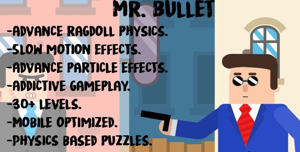 Mr. Bullet -Construct 2 (capx+html5) - CodeCanyon Item for Sale
