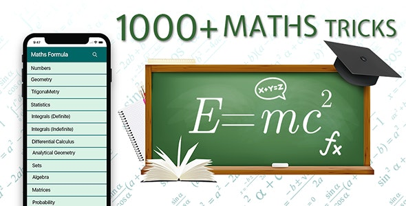 Math Tricks & Shortcuts for Competitive Exams - Android App + Admob Integration - CodeCanyon Item for Sale