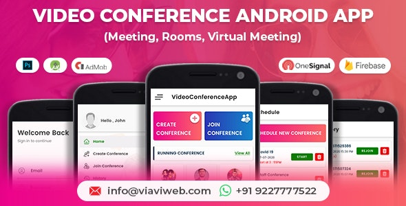 Video Conference Android App (Meeting, Rooms, Virtual Meeting) - CodeCanyon Item for Sale