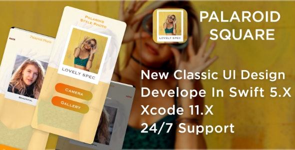 Palaroid Square - Vintage filters,Instant Photos - CodeCanyon Item for Sale