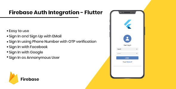 Firebase Auth Integration - iOS - CodeCanyon Item for Sale