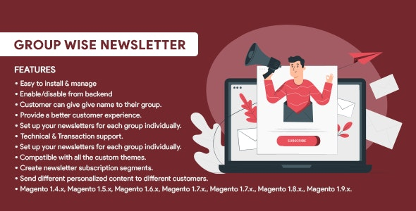 Group Wise Newsletter - CodeCanyon Item for Sale
