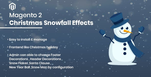Christmas Snowfall Effects Magento 2 Extension