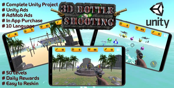 Bottle Shooting Game 3D