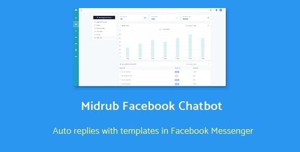 Midrub Facebook Chatbot - automatize quick replies with templates in messenger - CodeCanyon Item for Sale