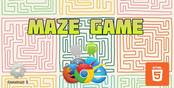 Maze Game for Kids- HTML5 Games (.Capx) - CodeCanyon Item for Sale