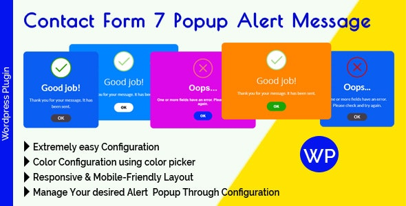 Contact Form 7 Popup Alert Message - CodeCanyon Item for Sale