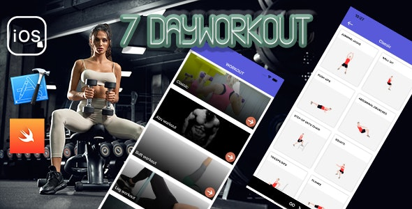 7 Day workout - Workout iOS Application - CodeCanyon Item for Sale