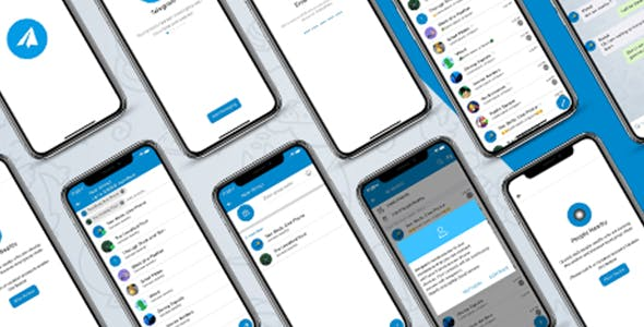 ionic 5 telegram app full template