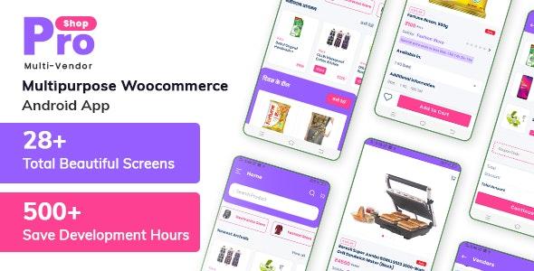 ProShop Multi Vendor - Multipurpose Woocommerce Android App - CodeCanyon Item for Sale