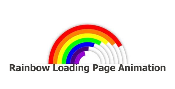 Rainbow Loading Page Animation