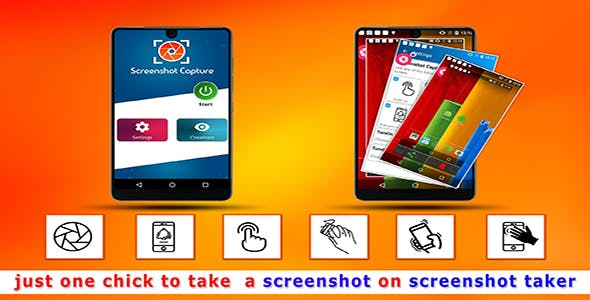 Screenshot Taker - Easily Capture your Screen - Android App + Admob + Facebook Integration