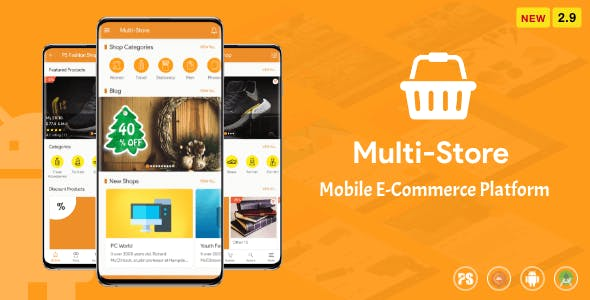 Multi-Store ( Mobile eCommerce Android App, Mobile Store App ) 2.8