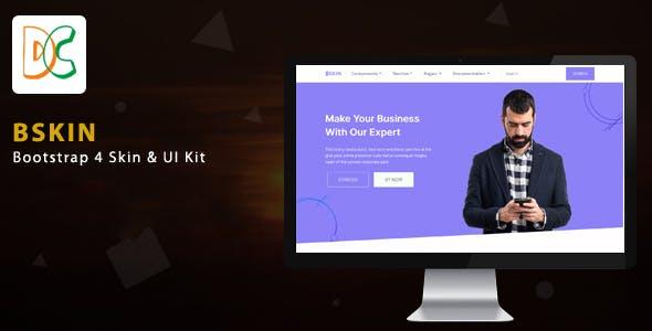 BSKIN - Bootstrap 4 Skin & UI Kit