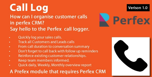 Call Log module for Perfex CRM - CodeCanyon Item for Sale
