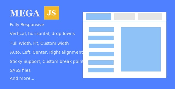 Mega.js - Turn any existing navigation to mega menu - CodeCanyon Item for Sale