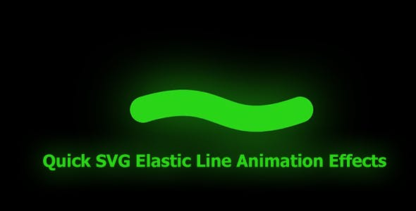 Quick SVG Elastic Line Animation Effects