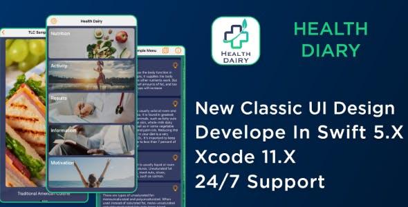 Health Diary - iOS Source Code