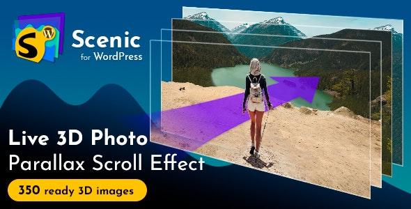 Scenic 3D Photo Parallax WordPress Plugin v1.7 - CodeCanyon Item for Sale