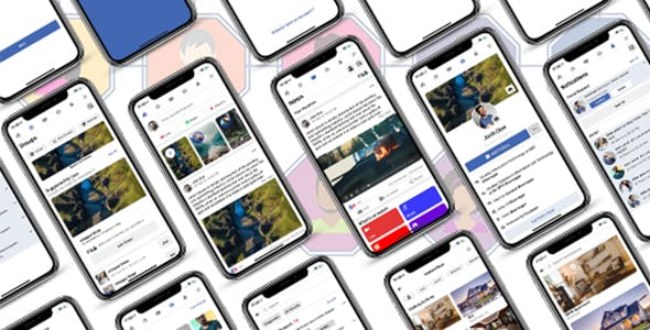 ionic 5 facebook clone app template