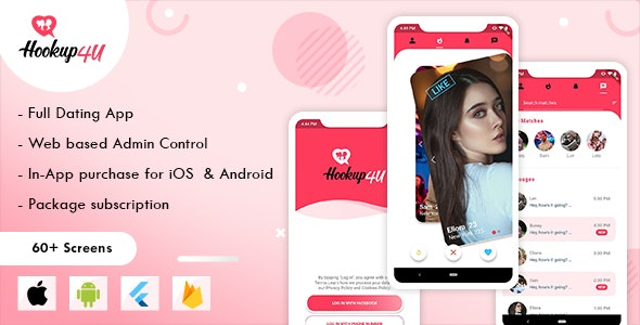 Hookup4u – A Complete Flutter Based Dating App with Admin - CodeCanyon Item for Sale