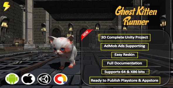 Ghost Kitten Runner Complete Project - Admob