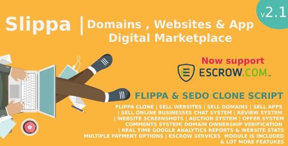 Slippa - Domains,Website & App Marketplace PHP Script - CodeCanyon Item for Sale