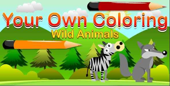 Edukida - Your Own Coloring Wild Animals Unity Kids Game for Android and iOS With Admob
