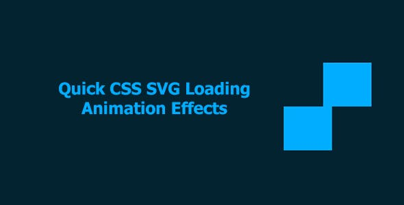 Quick CSS SVG Loading Animation Effects