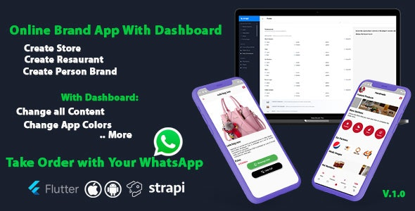Online Brand App With Dashboard - Ios and Android With Flutter - CodeCanyon Item for Sale