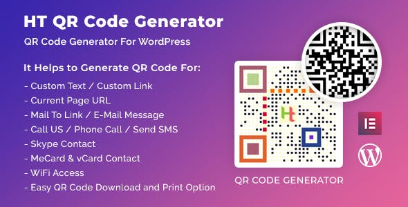 HT QR Code Generator for WordPress