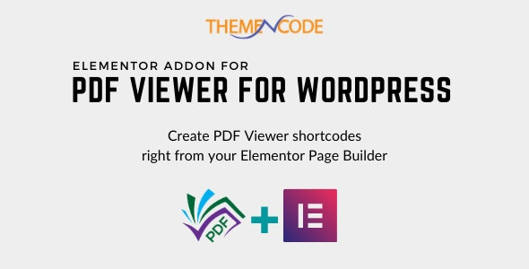 Elementor PDF Viewer for WordPress Addon - CodeCanyon Item for Sale