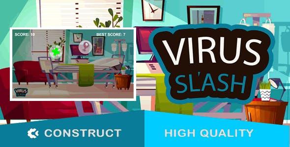 Virus Slash - HTML5 Game (capx)