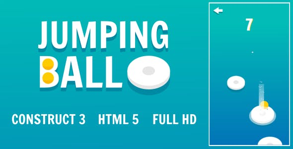 Jumping Ball - HTML5 Game (Construct3)