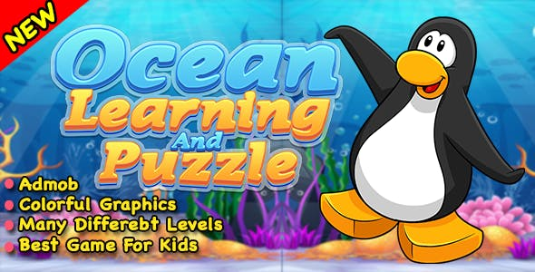 Ocean Learning With Match Puzzle Game + Ready For Publish In Android