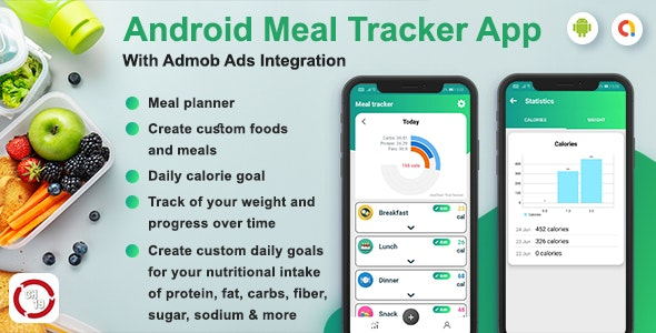 Android Meal Tracker App (Calorie Tracker, Weight Loss) - CodeCanyon Item for Sale