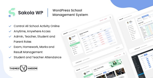 SakolaWP - WordPress School Management System - CodeCanyon Item for Sale