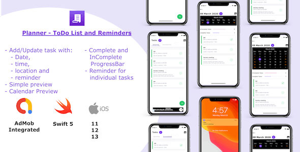 Planner - ToDo List and Reminders - CodeCanyon Item for Sale