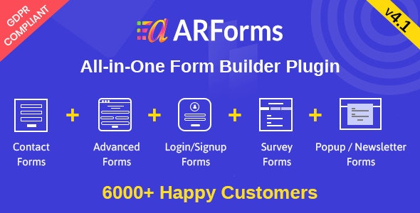 ARForms: Wordpress Form Builder Plugin - CodeCanyon Item for Sale