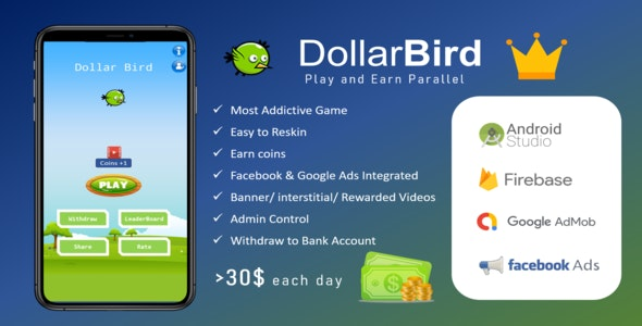 DollarBird - Magnum (Play, Earn & Cashout) - CodeCanyon Item for Sale