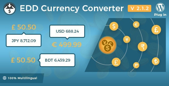 Easy Digital Downloads - Currency Converter - CodeCanyon Item for Sale