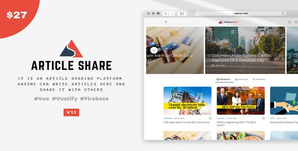 ArticleShare is an Article Sharing Platform