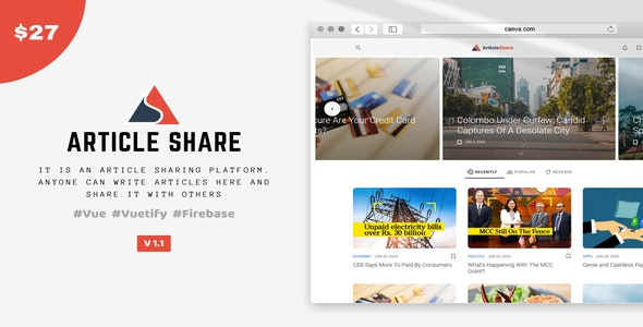 ArticleShare is an Article Sharing Platform - CodeCanyon Item for Sale