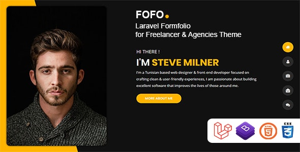 Fofo - Laravel Formfolio for Freelancer & Agencies Theme - CodeCanyon Item for Sale