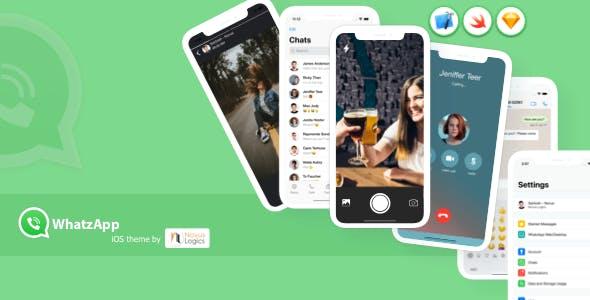 WhatzApp UI - Messenger App UI (WhatsApp UI clone - iOS)