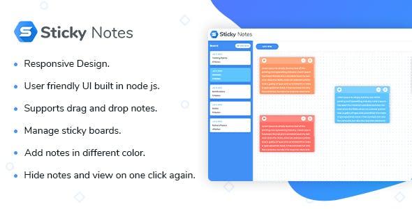 Sticky Notes - Node Js Script