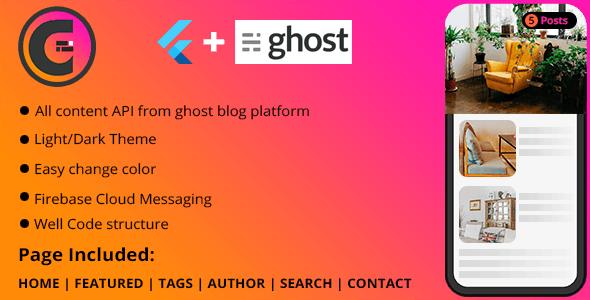 Flutter Application For Ghost Blog - CodeCanyon Item for Sale